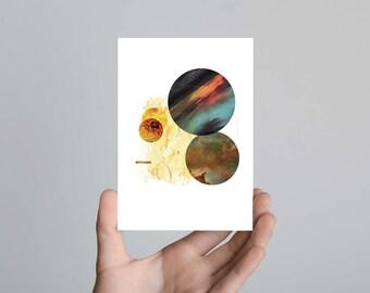 Fire in the Sky Postcard Print Art