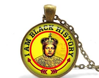 Empress Menen Pendant / Empress Menen Asfaw Necklace / Her Majesty Empress Menen  / Black History