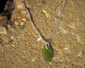 Wine Bottle Beach Glass Necklace