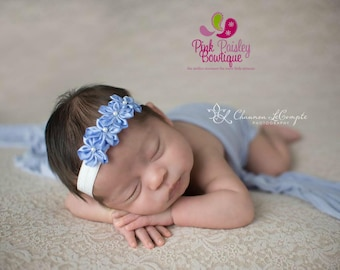 Baby headbands, infant headbands, Blue Baby Hairbows, Baby Girl headbands, baby girl headbands, baby hair accessories, Baby Blue hair bows