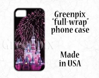 Disney iPhone X case, Disney iPhone 8 case, Disney iPhone 7 case, Disney iPhone 6 case, Plus, Cinderella Castle, Disney fan gear, greenpix