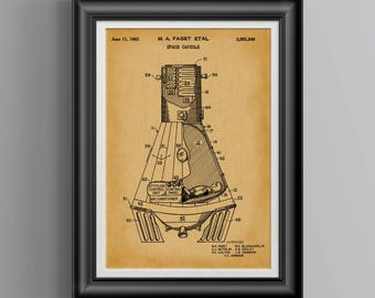 Space Gift for Him * Space Gift for Men NASA Rocket Ships Space Wall Prints Man Cave Nerd Gift Geek Dad Gift Ideas Geekery Print Gift PP6058