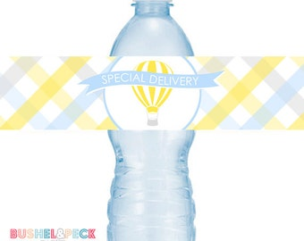 Balloons & Bow Ties #Party Water #Bottle #Labels