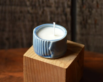 Handpoured soy wax candle, handmade candle, porcelain candle holder