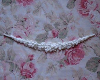 """New! Shabby Chic Rose Swag Garland 17 1/4""""  Furniture Applique Architectural Pediment Onlay"""