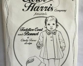 Carol Harris Toddler Coat and Bonnet Pattern