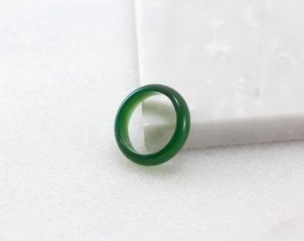 Green Jade Ring, Jade Ring, Thin Modern Ring, Solid Stone Band, Jade Green Jewelry, Raw Stone Ring , Chinese Jade Ring , Solid Stone Ring