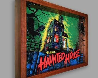 Haunted House Pinball Shadowbox Art