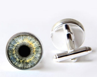 Mens Cufflinks, Eye Cufflinks, Dragon Eye Cufflinks, Novelty Cuff Links