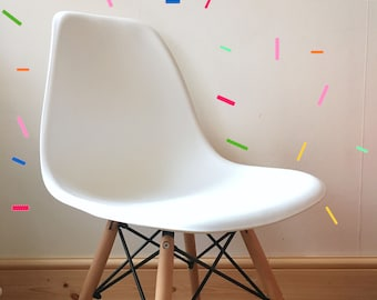 50 Hundreds and Thousands Sprinkles Wall Decal Sticker -  in a variety of colours