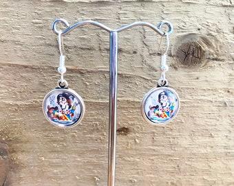Handmade Charm Earrings Alice in Wonderland the Mad Hatter