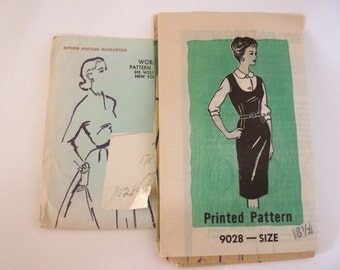 Vintage Jumper Blouse Pattern Sz 18 1/2  w/ Envelope Fitted Jumper Peter Pan Collar Blouse Fitted Mail Order Mid Century Pattern 1960s UNCUT