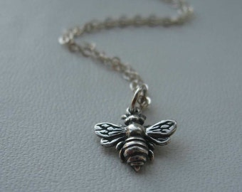 honey bee sterling silver necklace - for charity