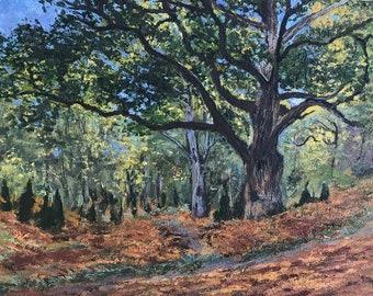 Monet's Bodmer Oak Handpainted Replica
