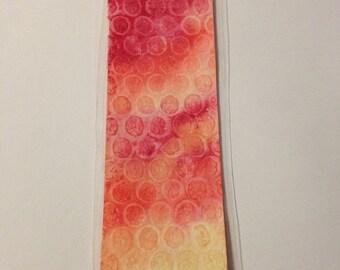 Orange Bubble Laminated Bookmark