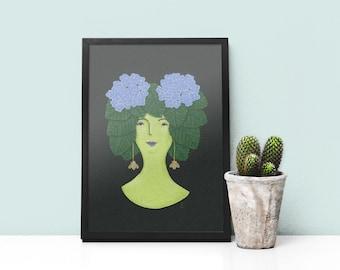 Art Print- Heidi, My Hydrangea