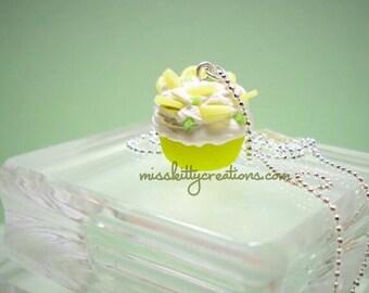 Lemon Meringue Pie SCENTED Cupcake Necklace
