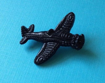 MINI PIN - WWII Style Plane Brooch - Heart Victorian 50s Retro Vintage Inspired Reproduction 40s - Airforce Air Force Military