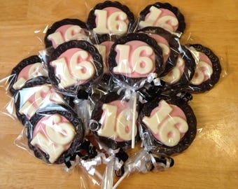 Sweet Sixteen Chocolate Favors