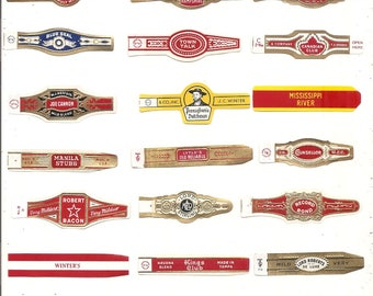 260 CIGAR BAND Labels -new old stock cigar bands