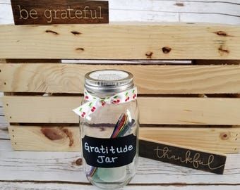 Gratitude Jar, Gift for Her, Unique Gift, Memory Maker, Family Time, Spread Joy, Happiness Project, Favorite Things, Mindful Thoughts, Love