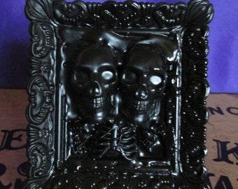 Twin Skull Frame Art
