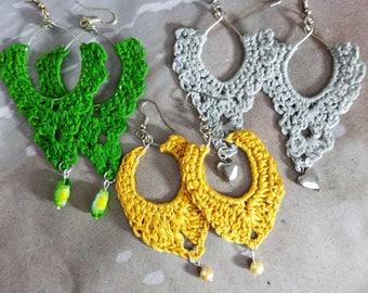 Crochet Hoop Earrings