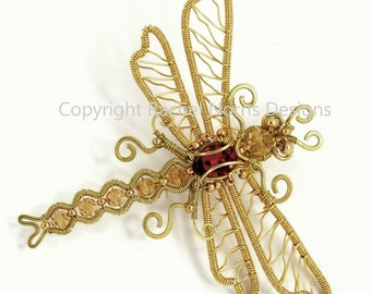 Rachel Norris Wire Dragonfly Kit - Ruby Edition RN015