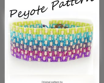 Greek Key Ombre Peyote Pattern Bracelet - For Personal Use Only PDF Tutorial , ombre bracelet pattern , easy miyuki delica bracelet tutorial