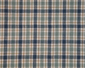 Homespun Material | Medium Plaid Material | Cotton Material | Primitive Material | Rag Quilt Material | Home Decor Material | 1 Yard
