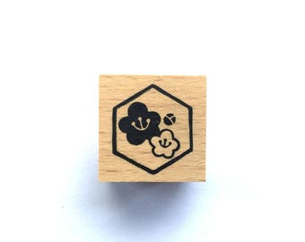 New Year Rubber Stamp -   Plum Blossom Stamp-  Traditional Japanese Rubber Stamp - Small Size
