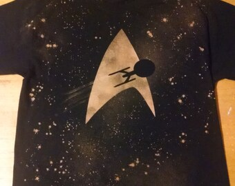 Star Trek Inspired Handmade Bleached Shirt