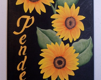 Family Name Personalized Sunflower Sign