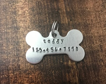 Personalized Dog Tag with Name and Phone Number - Dog Tags for Collar - Custom Dog Tags - Dog Stuff - Personalized