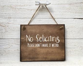 No Soliciting Sign, No Soliciting Door Sign, Do Not Disturb Sign, No Solicitation Sign, No Soliciting, Do Not Disturb Sign