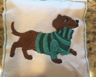 Two Pocket hand warmers - Dachshund