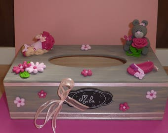 TO ORDER! Beautiful urn / tissue box. Ideal christening