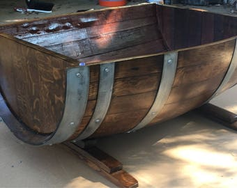 Wine or Whiskey Barrel Coffee Table
