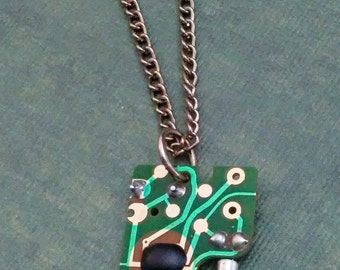 Circuit board pendant necklace