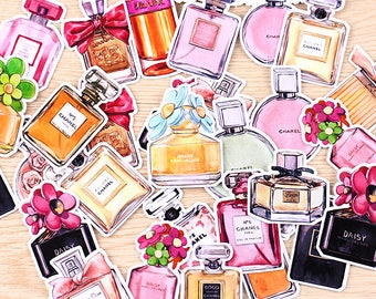 35 Pieces of Perfume Stickers - Journal/Planner/Scrapbooking