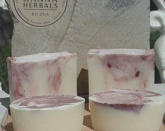 Rose Soap - Rose Salt Bars - Rose Hand Soap - handmade soap - artisan soap - gifts for her - cold process soap - floral soap