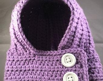 Hooded Cowl in Purple