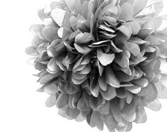 Medium gray 25cm paper ball silk tassel