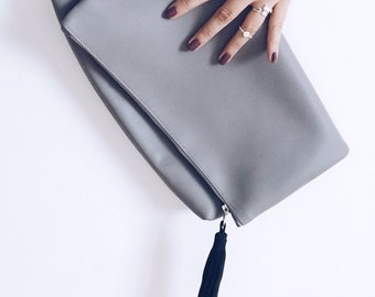 Evening clutch, leather clutch, genuine leather clutch, leather bag