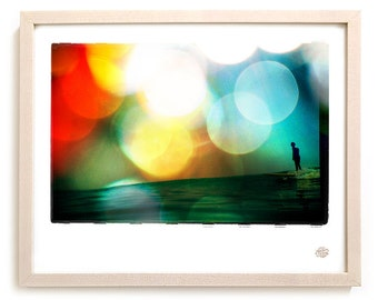 "Surf Photo Art Print ""Pushing"" - Borrowed Light Series"