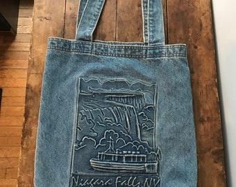 Denim Niagara Falls shoulder bag