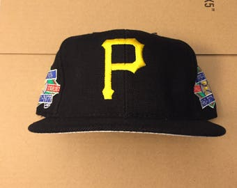 Vintage deadstock Pittsburgh Pirates world series champions patch snapback hat cap 90s jersey logo annco mlb 70s dynasty 1971 1979 steelers