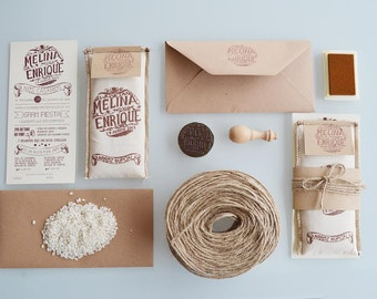 Rice Bag Wedding Invitation