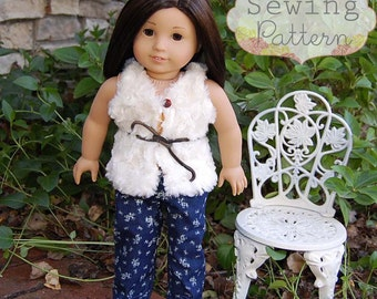 INSTANT DOWNLOAD- Olivia Doll Pants Sewing E-Pattern and Tutorial