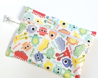 Large Monsters Reusable Baggie